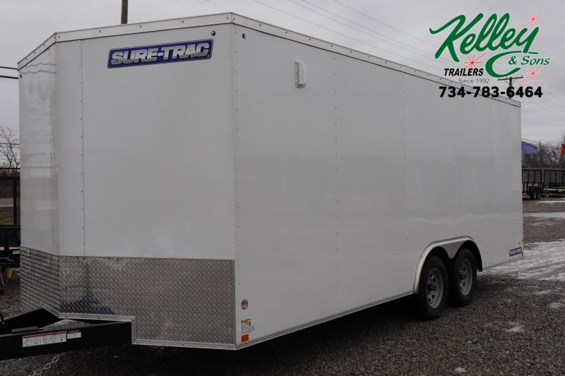 2020 Sure-Trac 8.5x20 7K Wedge Car Hauler Enclosed Cargo Trailer