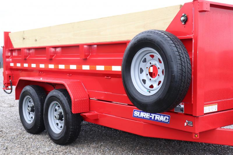 "2020 Sure-Trac 82""x14' 14K Low Pro Telescopic Pro Series Dump Trailer"