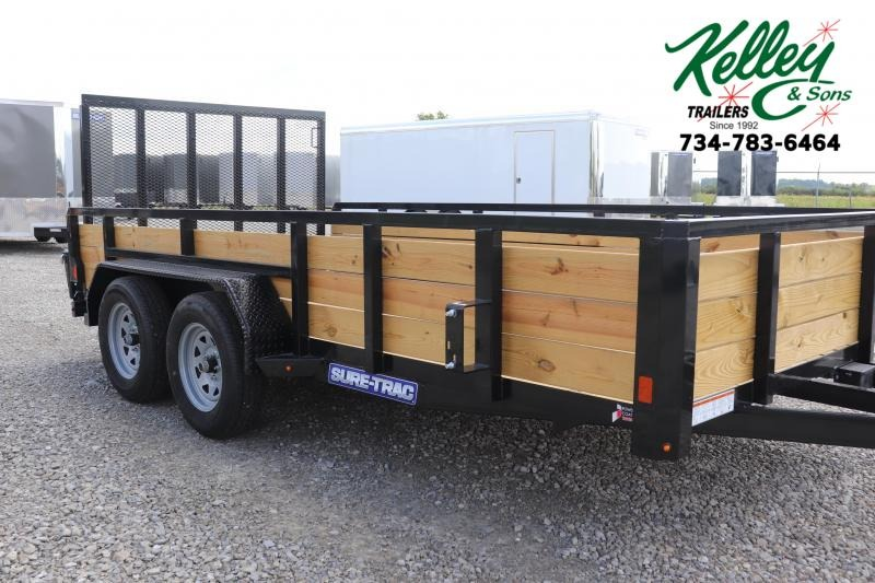 2020 Sure-Trac 7x14 7K 3-Board Tandem Axle Utility Trailer