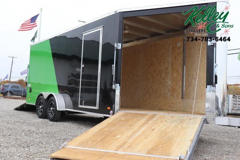 2020 Bravo Trailers 7x18 7K Star Aluminum Enclosed Snowmobile Trailer