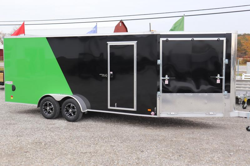 2020 Bravo Trailers 7x18 7K Star Aluminum Enclosed Snowmobile Trailer