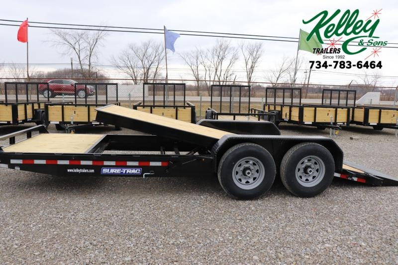 2020 Sure-Trac 7x16+4 14K Tilt Bed Equipment Trailer