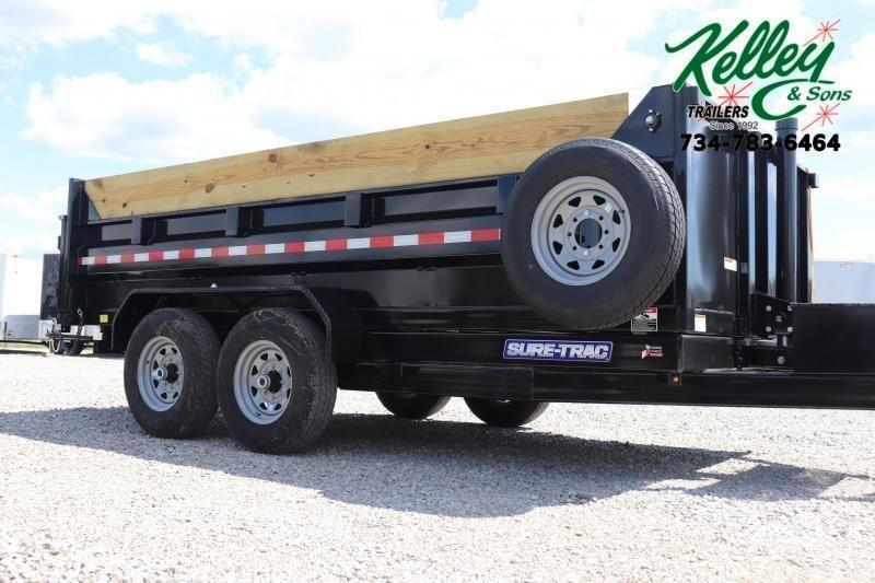 "2020 Sure-Trac 82""x14' 14K Low Pro Telescopic PRO Dump Trailer"