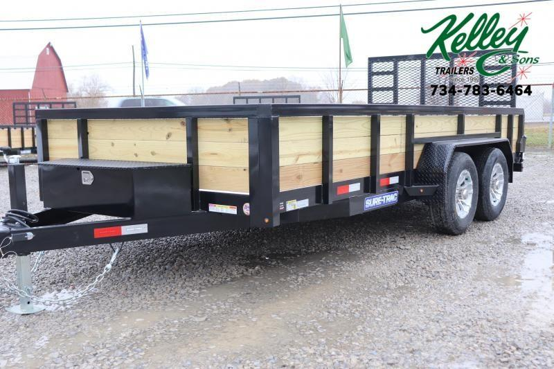 2020 Sure-Trac 7x16 10K 3-Board Utility Trailer
