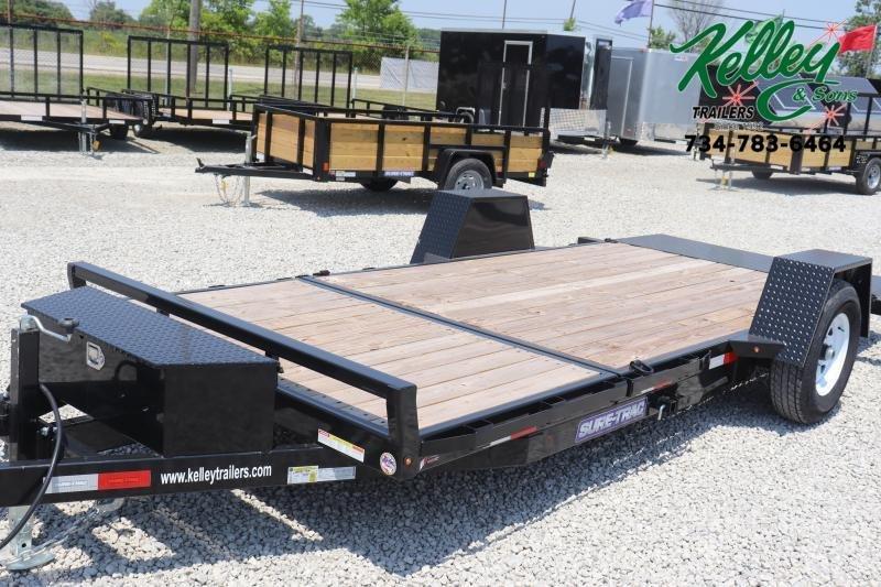 "2020 Sure-Trac 78""x12+4 7.8K Tilt Bed Equipment Trailer"