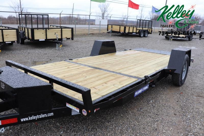 "2020 Sure-Trac 78""x12+4 7.8K Tilt Bed Equipment Trailer"