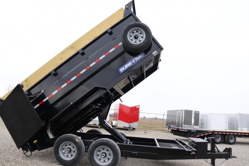 "2020 Sure-Trac 82""x14 14K w/ 4' Sides Scissor Dump Trailer"