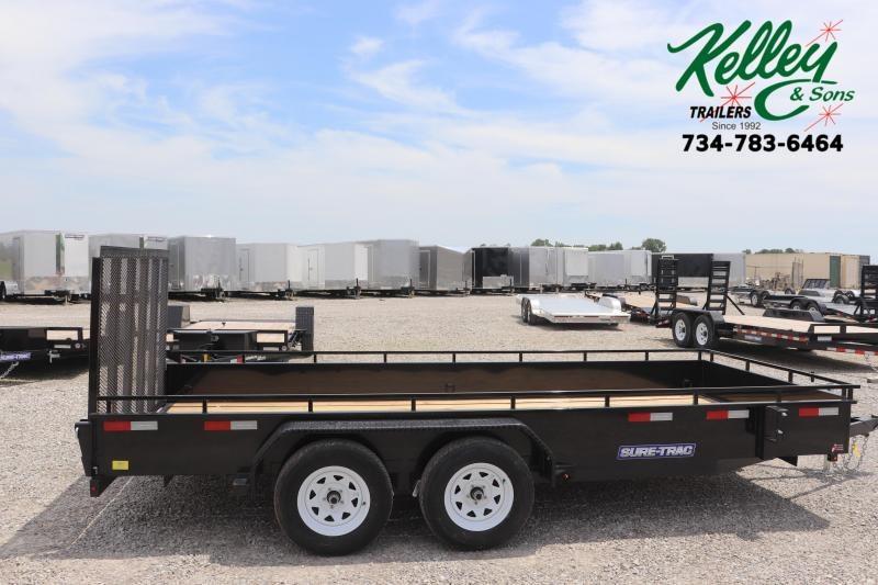 2020 Sure-Trac 7x16 7K Steel High Side Utility Trailer