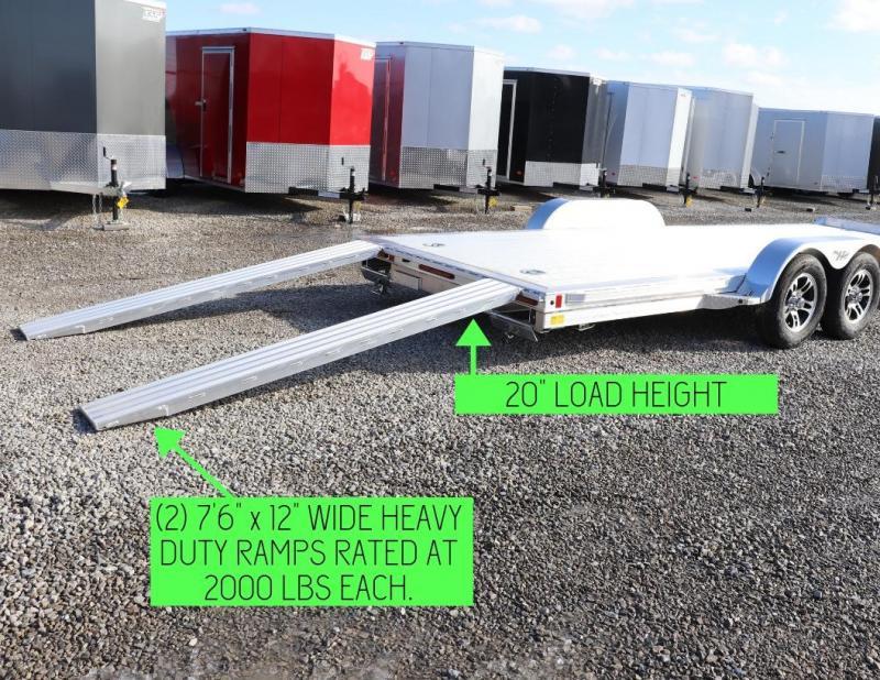 "2019 Hillsboro Industries 82""x18 7.7K Aluminum Car Hauler Car / Racing Trailer"