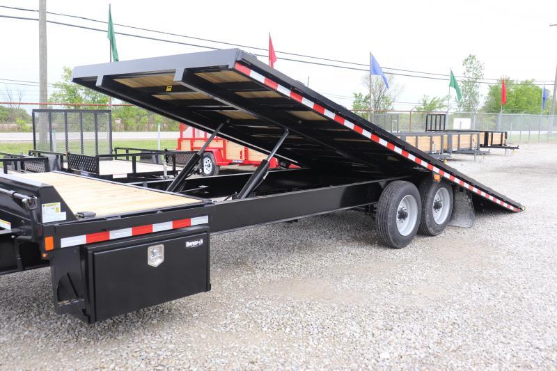 2020 Sure-Trac 102x22+4 17.6K Deckover Tilt Equipment Trailer