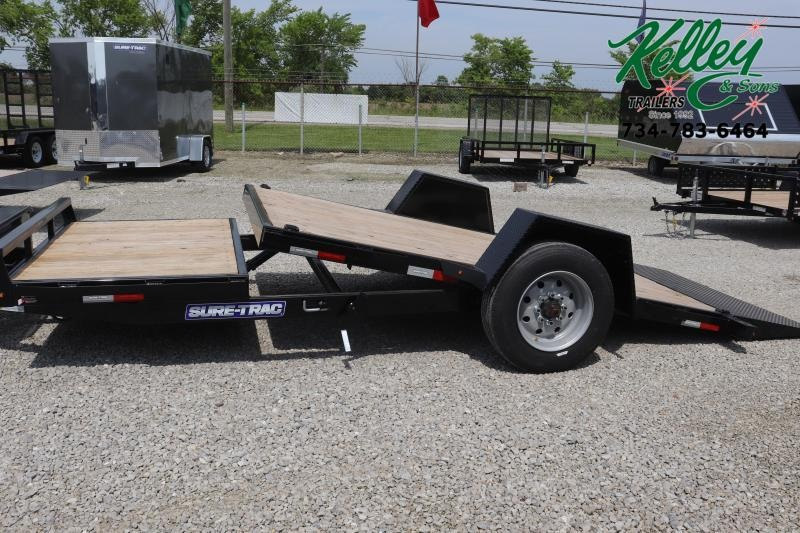 "2019 Sure-Trac 78""x12+4 10K Tilt Bed Equipment Trailer"
