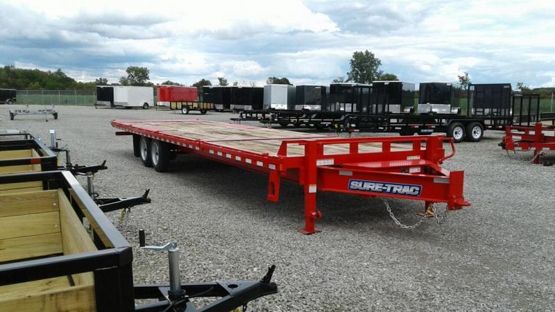 2020 Sure-Trac 22+8 17.6K Powertilt Equipment Trailer