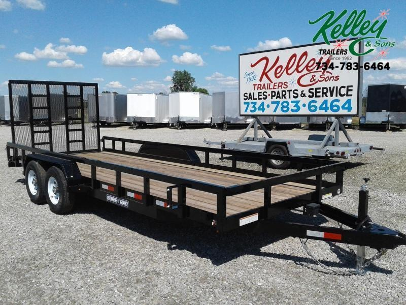 2020 Sure-Trac 7x20 10K Tube Top Utility Trailer