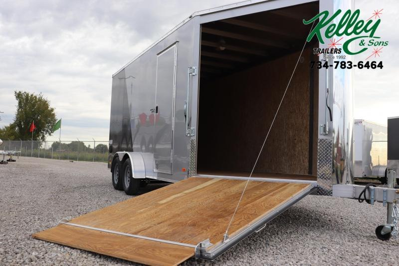 2020 Bravo Trailers 7x16 7K Star Aluminum Enclosed Snowmobile Trailer