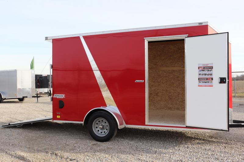 2020 Bravo Trailers 6x12 Scout w/ Ramp Door Enclosed Cargo Trailer