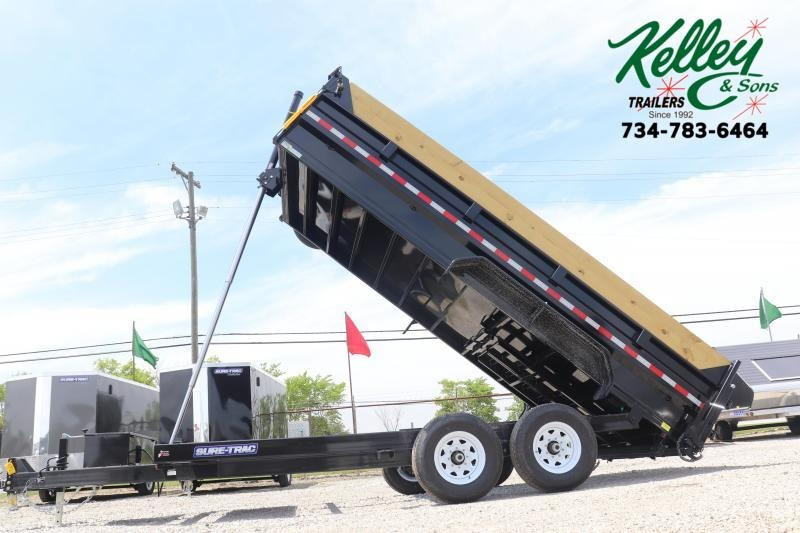 2020 Sure-Trac 82INx16 14K Telescopic Pro Dump Trailer