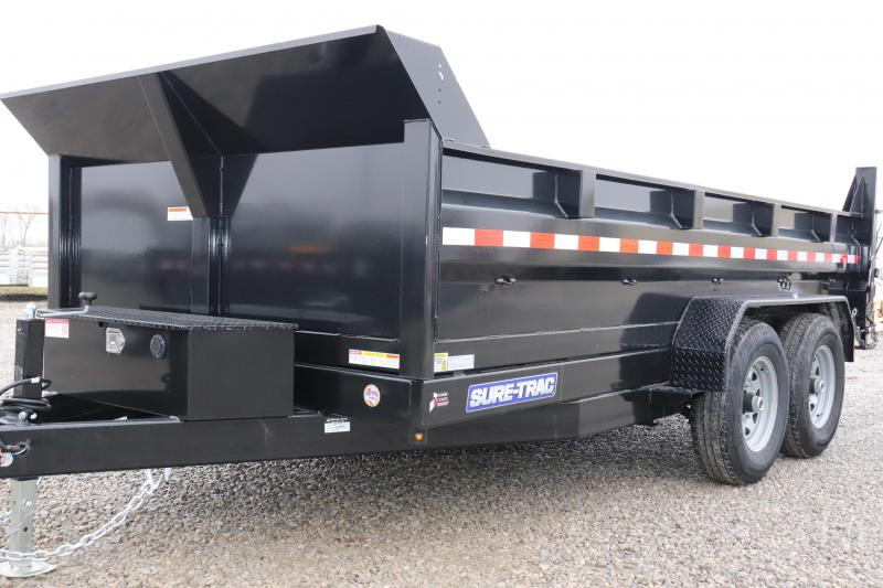 2020 Sure-Trac 82IN x14 14K Scissor Dump Trailer