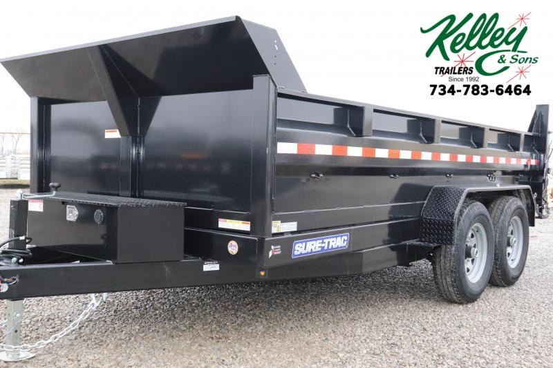 2020 Sure-Trac 82IN x14 14K Scissor Dump Trailer