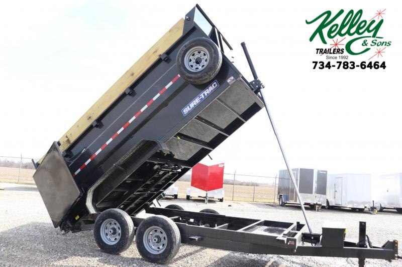 "2020 Sure-Trac 82""x14 14K w/ 4' Sides Telescopic Pro Dump Trailer"