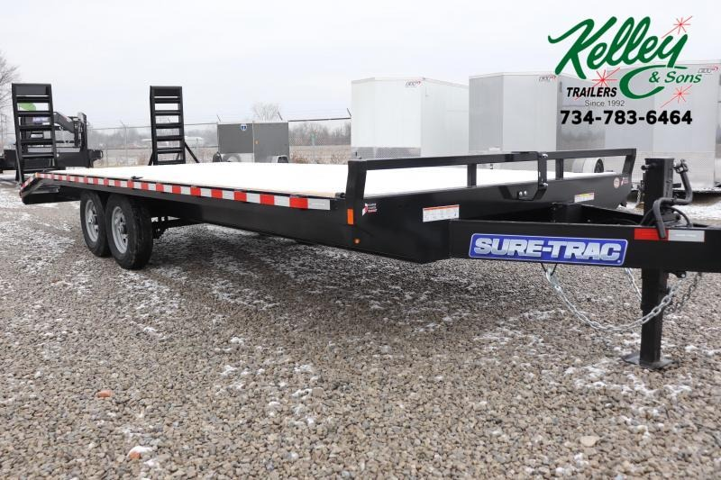 2020 Sure-Trac 8.5x20+4 15K Standard Duty Beavertail Deckover Flatbed Trailer