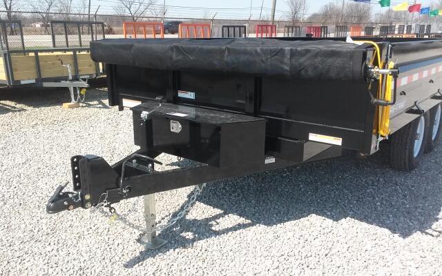 "2020 Sure-Trac 96""x14 14K Deckover w/ Fold Down Sides Scissor Dump Trailer"