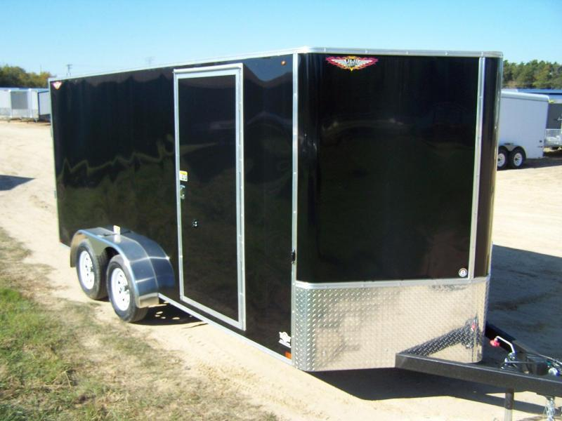 2020 H and H Trailer H8416TFTV-070 Enclosed Cargo Trailer - CHARCOAL GRAY