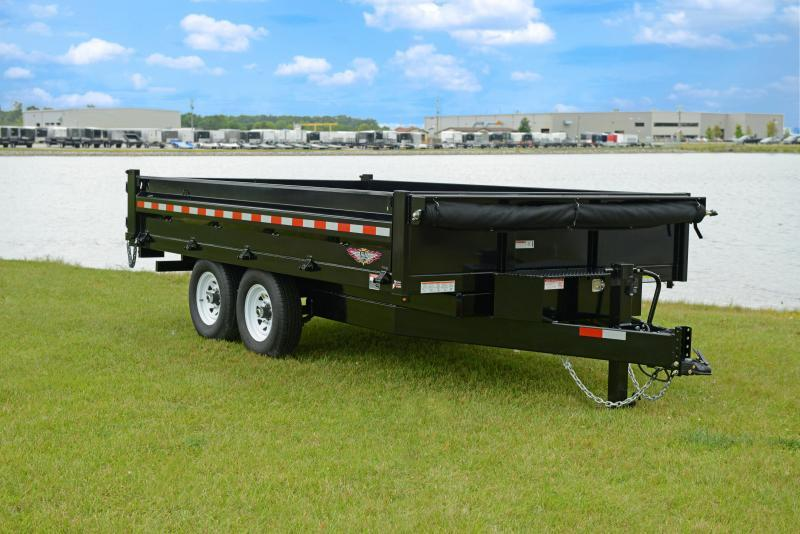 2019 H and H Trailer H7612UD-24-100 Dump Trailer