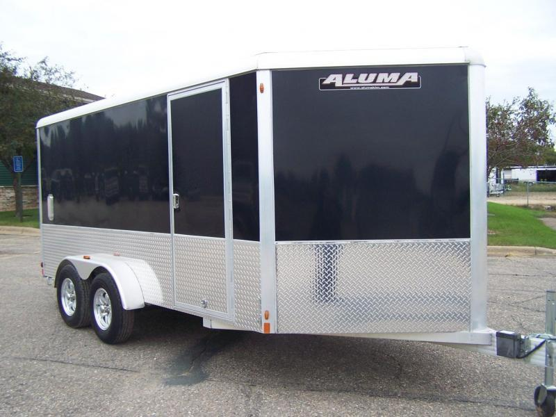 "2019 Aluma AE714TAM +12"" Sport Enclosed Cargo Trailer - CHARCOAL GRAY"