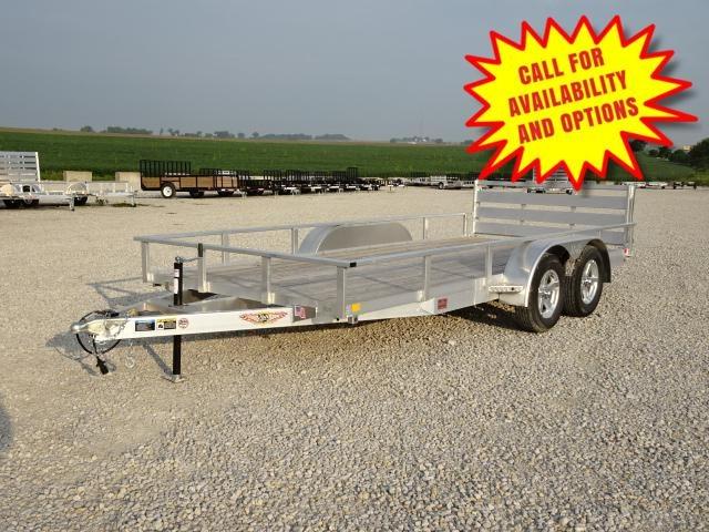 """New H&H Aluminum 82""""x16' W / Bi-Fold Gate 7000#"""