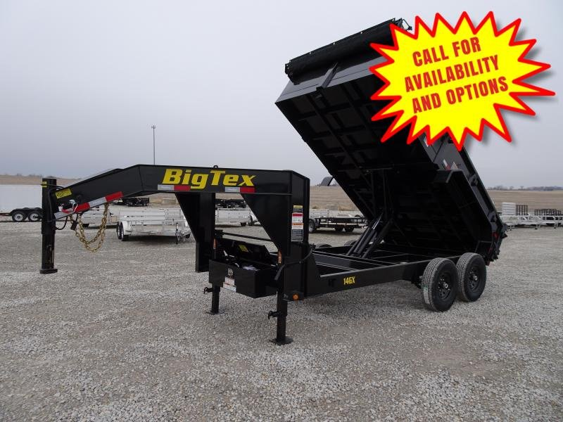New Big Tex 16' Gooseneck Dump 14000#