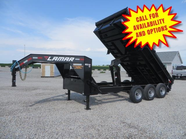 "New Lamar 83""x16' Gooseneck Dump 21000#"