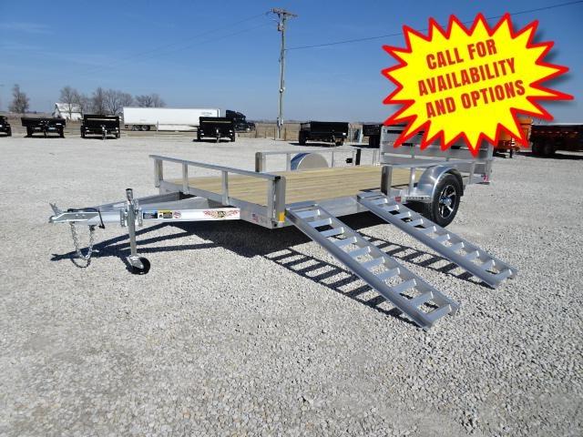 """New H&H Aluminum 82""""x14' W/ Side Ramps & Bi-Fold Gate"""
