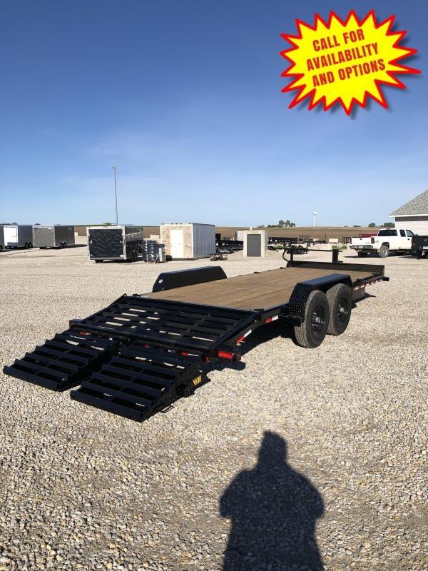 New Big Tex 20' Skid Loader Trailer W / Mega Ramps 14000#