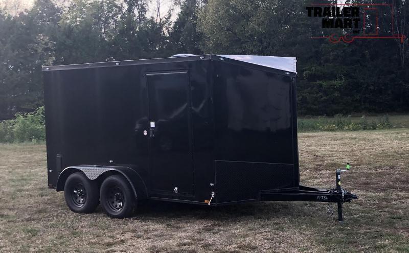 2020 Spartan 7X12 Enclosed Cargo Trailer Midnight Special HD Framing Pulls Terrific
