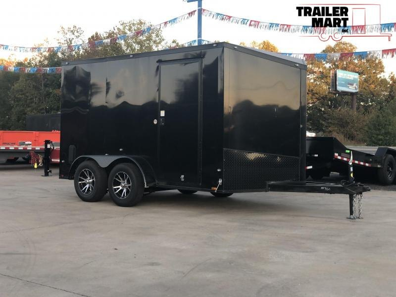 2020 Spartan 7X12 Enclosed Cargo Trailer Midnight Special HD Framing with Aluminum Wheels