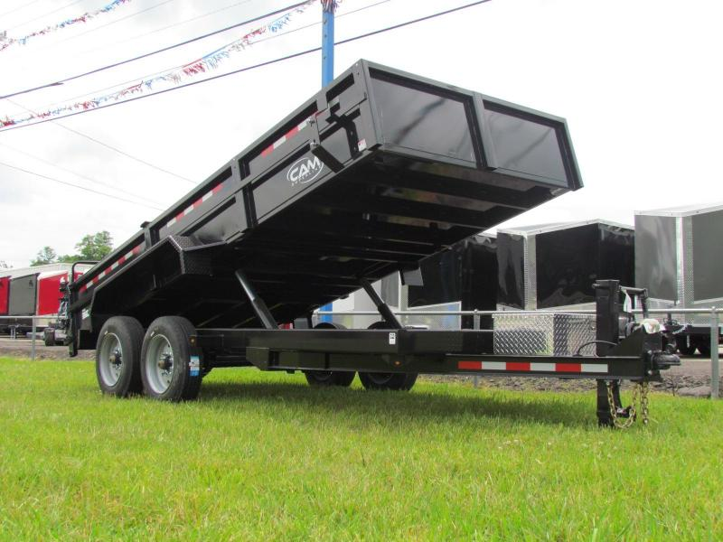 2019 Cam Superline BEAST HD 7x16 8 Ton Dump Trailer Low Profile Model