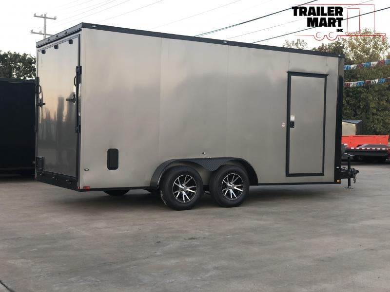 2020 Spartan 7x16x7 Enclosed Cargo Trailer  with Aluminum Wheels