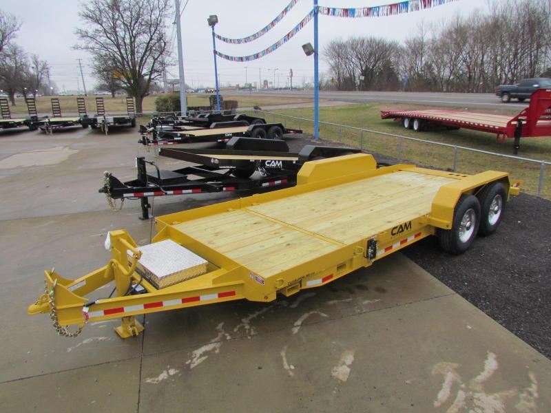 2020 Cam Superline 7 Ton Split Deck Tilt Trailer 8.5x15+4 Equipment Trailer