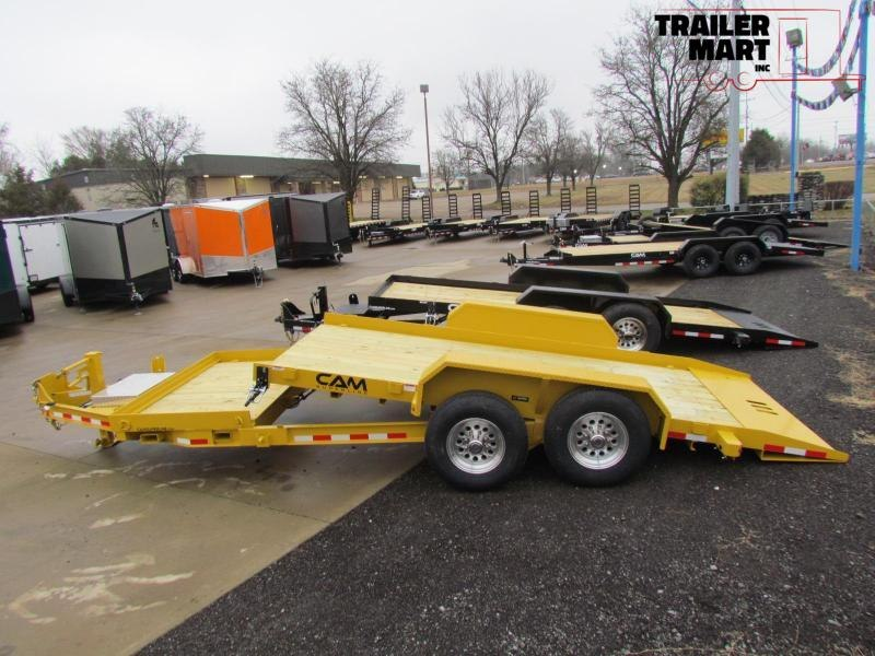 2020 Cam Superline 7 Ton Split Deck Tilt Trailer 8.5x15+4 Equipment Trailer