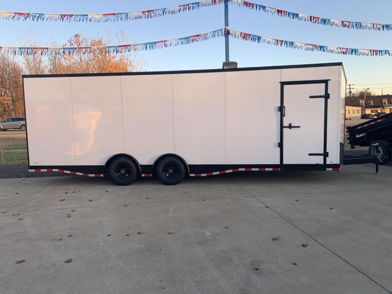 2020 Eagle Spread Axle Enclosed Car Trailer 7' Tall