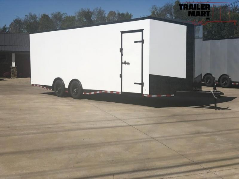 2020 Eagle Spread Axle Enclosed Car Trailer 7' Tall 9990 GVWR
