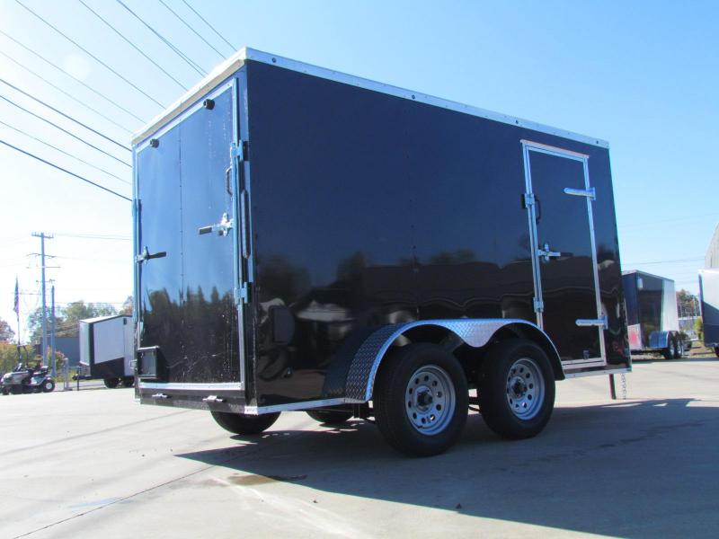 2020 Eagle 6X12 Black Enclosed Cargo Trailer Tandem Axle