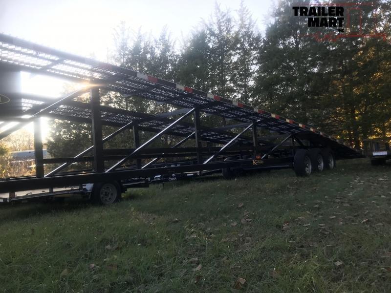 2018 Kaufman Trailers 3 CAR WEDGE Flatbed Trailer