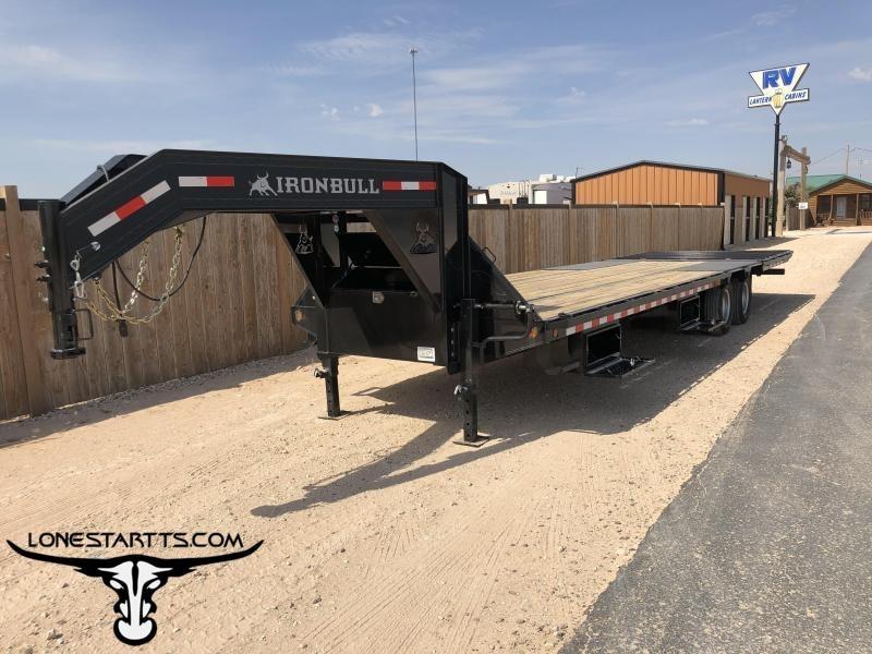 2020 Iron Bull Hydraulic Dovetail Flatdeck Trailer