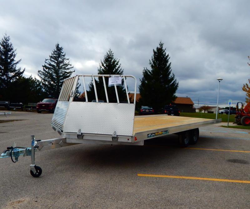 2020 Aluma 8.5x12 Drive On/Off Snowmobile Trailer