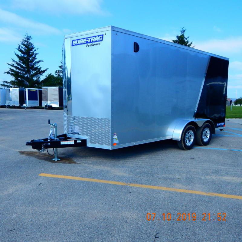 2019 Sure-Trac 7x16 Pro-Series Wedge 7k Enclosed Cargo Trailer