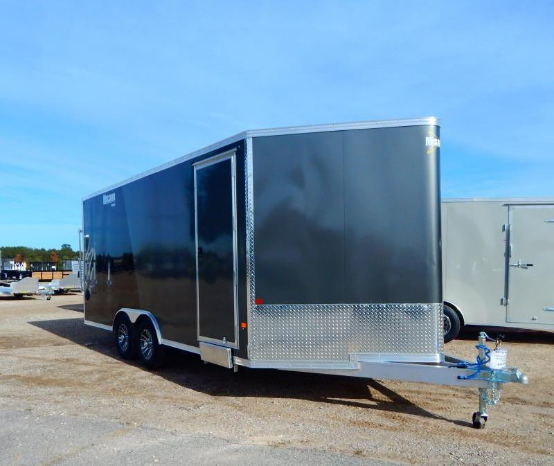 2019 Mission 8.5x18 Drive On/Off Snowmobile Trailer