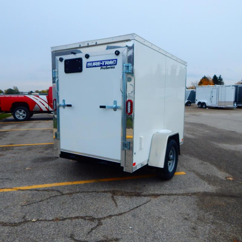 2020 Sure-Trac 5x8 3k Pro-series Wedge Enclosed Cargo Trailer