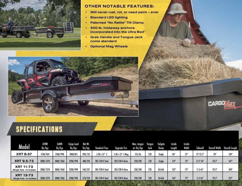 2020 Floe 6x13 3.5k Cargo Max with Aluminum Wheels Utility Trailer