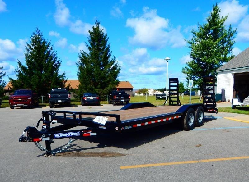 2020 Sure-Trac 8.5x22 14k Implement w/ Drive Over Fenders Equipment Trailer